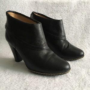 Merona Black Ankle Heeled Boots
